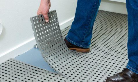 Plast fliser gulv